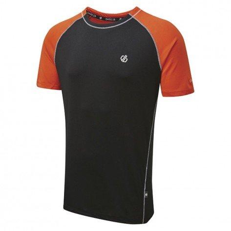 T-Shirt Nero/Arancio Peerless