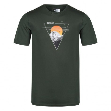 T-shirt Verde Fingal Con Stampa