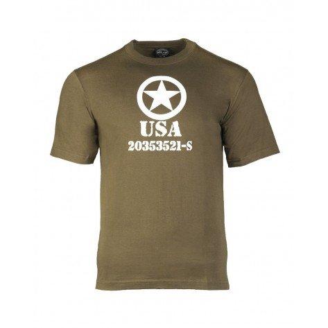 T-shirt Cotone Oliva Con Stampa