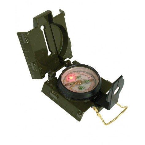 Bussola In Metallo Verde C/Led
