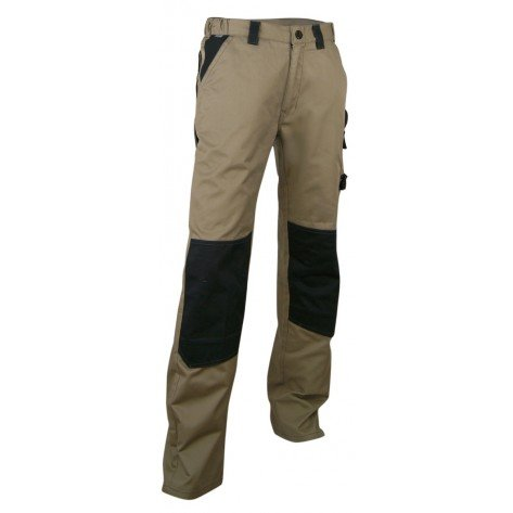 Pantalone Multitasche Plomb Beige