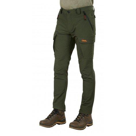 Pantalone Siber Soft Shell Verde/Arancio