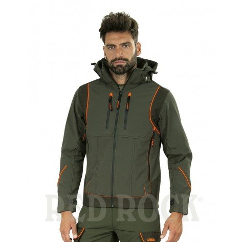 Giacca Siber Idrorepellente Verde/Arancio