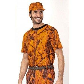 T-Shirt Arancio Mimetica