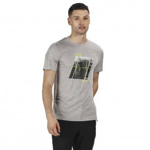 T-shirt Grigia Fingal Con Stampa