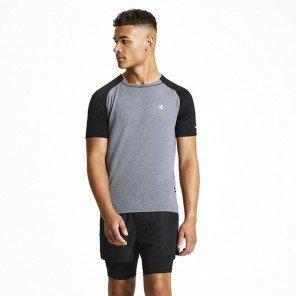 T-Shirt Tecnica Grigio/Nero Peerless