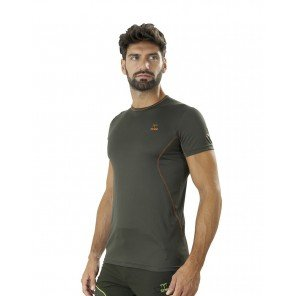 T-Shirt Tecnica Ambit Verde Manica Corta