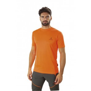 T-Shirt Manica Corta Arancio Fluorescente