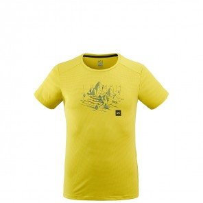 T-Shirt Black Mountain Lime