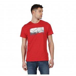 T-Shirt Rossa Cotone Cline