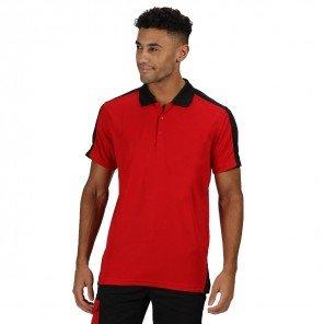 Polo Contrast Bicolore Rosso/Nero