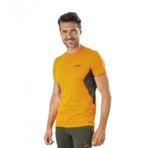 T-Shirt Tecnica Ambit Arancio/Verde Manica Corta