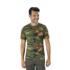 T-shirt Cotone Mimetico Woodland