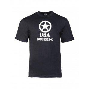 T-shirt Cotone Nera Con Stampa