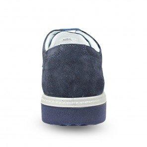 Scarpa Scamosciata Stringata Blu