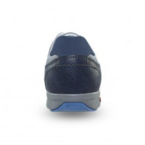 Scarpa Stringata Blu Aerata