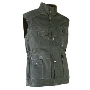 Gilet Safari Multitasche Verde
