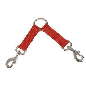 Accoppiacani Nylon 2 Cani Arancio
