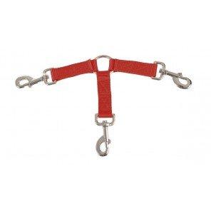 Accoppiacani Nylon 3 Cani Arancio