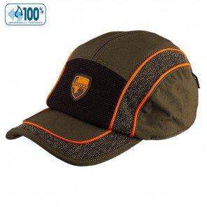 Berretto Sassolungo Impermeabile Verde Profili Arancio