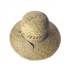 Cappello Donna Traforato Con Nastro 100% Paglia