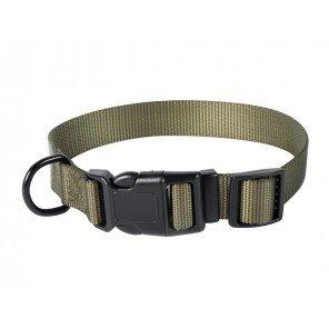 Collare Nylon Verde Con Clip 45 cm