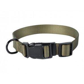Collare Nylon Verde Con Clip 60 cm
