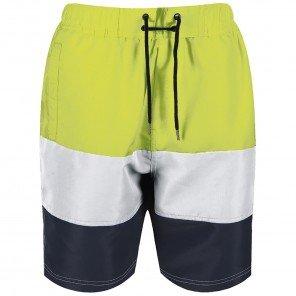 Bermuda Short Lime/Bianco/Blu