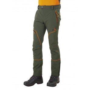 Pantalone Elk Elasticizzato Verde Profili Arancio