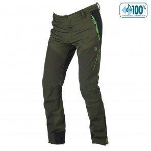 Pantalone Misurina Impermeabile U-Tex Verde Profili Verdi Fluo
