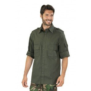 Camicia Manica Lunga Verde