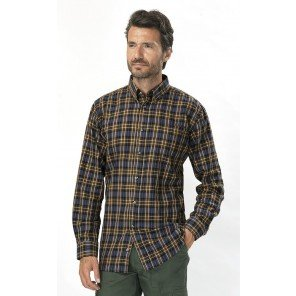 Camicia Quadro Marrone Caribou