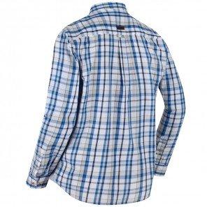 Camicia Quadro Celeste Bacchus