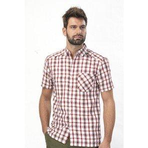 Camicia M/M Quadro Rosso Mindano