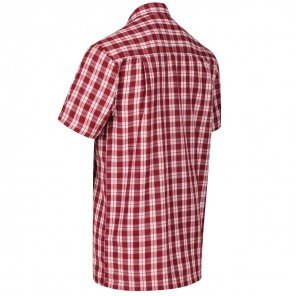 Camicia Mezza Manica Quadro Rosso Mindano