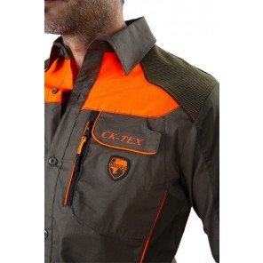 Camicia Cinghiale Verde/Arancio