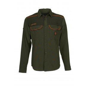 Camicia Pinzolo Elasticizzata Verde/Arancio