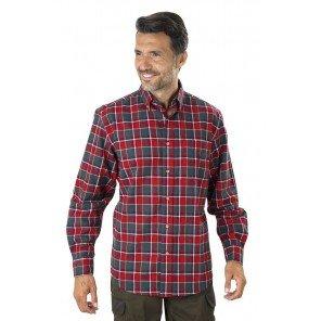 Camicia Flanella Quadro Rosso e Verde