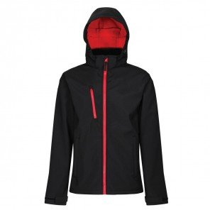 Giacca Ventures Soft Shell Impermeabile Nero/Rosso