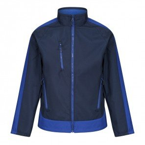 Giacca Contrast Soft Shell Impermeabile Bicolore Blu/Azzurro